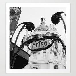 Paris Metro V Art Print