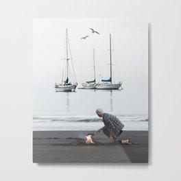 Quietness by GEN Z Metal Print