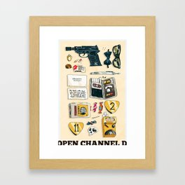 Open Channel D Framed Art Print