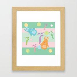 Pastel Bunnies Framed Art Print