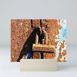 Rustic Lock Mini Art Print