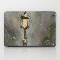 narnia iPad Cases featuring Lamp Post in Blue by Jen Hallbrown