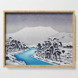 Hashiguchi Goyo - Mt Ibuki in Snow Serving Tray