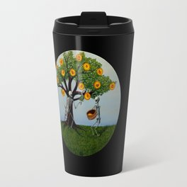 Embryo Tree (black background) Travel Mug