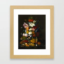 Victorian Bouquet by Severin Roesen Framed Art Print