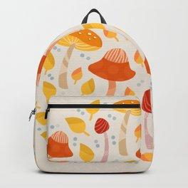 Mushrooms - orange and yellow Backpack