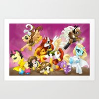 mlp Art Prints featuring MLP X-Women by Kimball Gray