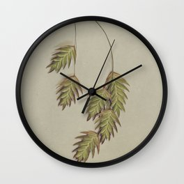 pastel sea oats Wall Clock