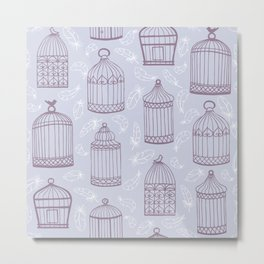 Birdcages Metal Print