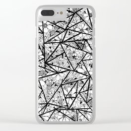 Floral & Thistle & Triangle Clear iPhone Case