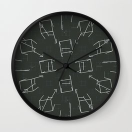 over lined Wall Clock