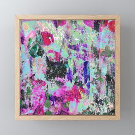 Bright Paint Peeling Framed Mini Art Print