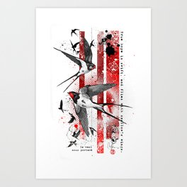wings of a swallow Art Print