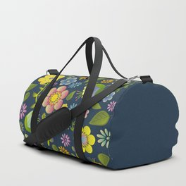Petty Floral Pattern 1 Duffle Bag