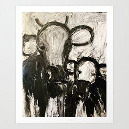 Moo Cows Art Print