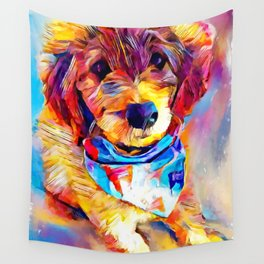 Goldendoodle Wall Tapestry