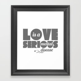 Love - By Plato Framed Art Print