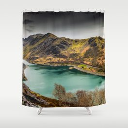 Llyn Peris Snowdonia Shower Curtain