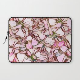pink abstract daisies Laptop Sleeve