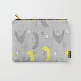 Boomerangs!  Grey and Yellow Carry-All Pouch