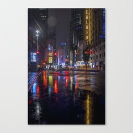 Rainy nights Canvas Print