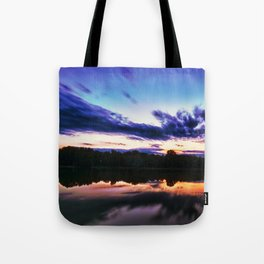 Sunset on Alum Creek Galena, Oh. Tote Bag