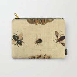 Bees Wasps And Honeycomb Carry-All Pouch