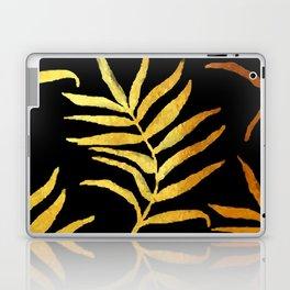 Black and gold leaf pattern V2 #society6 Laptop & iPad Skin
