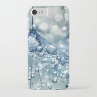 mandie manzano iPhone & iPod Cases featuring Sparkling Dandy in Blue by Sharon Johnstone