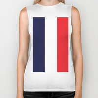 france Biker Tanks featuring France by shannon's art space