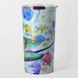 Flower Tongue Chameleons Travel Mug