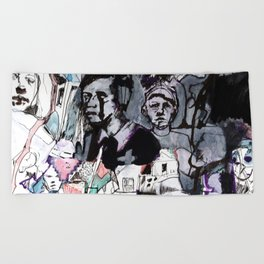 The Purple Mercury People Beach Towel