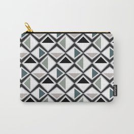 Gray Asymmetry Carry-All Pouch