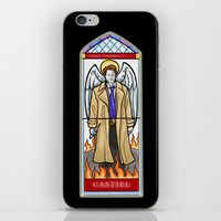 castiel iPhone & iPod Skins featuring Castiel by Grace Mutton