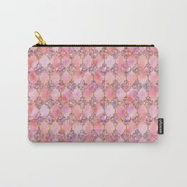 Luxury Gold and Pink Glitter effect oriental pattern on #Society6 Carry-All Pouch