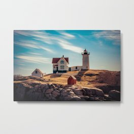 The Nubble Cape Neddick Lighthouse York Beach Maine New England Light Station Metal Print