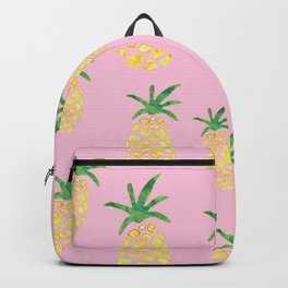 Pineapples Print - Pink Backpack