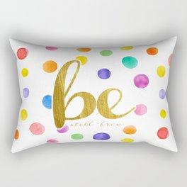 Travel Mug - Watercolor Dots Rectangular Pillow