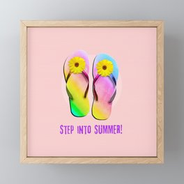 Step into Summer! Framed Mini Art Print