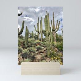 Majestic Saguaros Mini Art Print