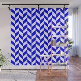 HERRINGBONE (BLUE & WHITE) Wall Mural