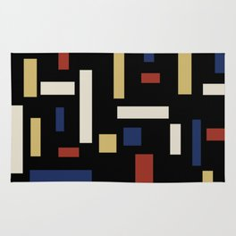 Abstract Theo van Doesburg Composition VII The Three Graces Rug