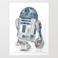 r2d2 Art Prints featuring R2d2 by Iron Teflon