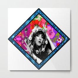 Stevie Nicks Flower Child Metal Print