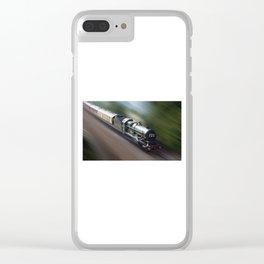 Nunney castle steam train Clear iPhone Case