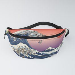 The Great Wave of English Bulldog Fanny Pack