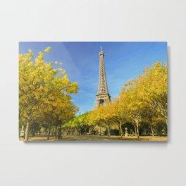 Eiffel Tower in Autumn Metal Print
