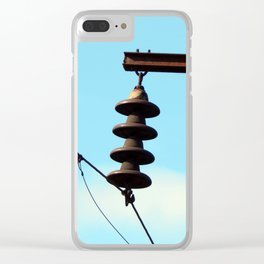 Electricity, electric power lines Clear iPhone Case