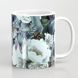 Vintage & Shabby Chic - Blue Winter Roses Coffee Mug