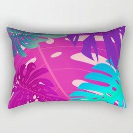 Colorful monstera leaves 1 Rectangular Pillow